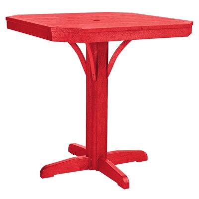 Raja Bar Table Finish: Red