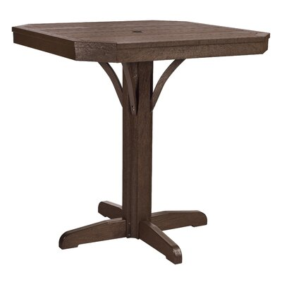 Raja Bar Table Finish: Chocolate