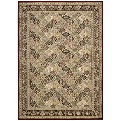 Antiquities Washington Green/Gray Area Rug Rug Size: Rectangle 710 x 1010