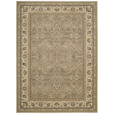 Antiquities American Jewel Cream Area Rug Rug Size: 3'9