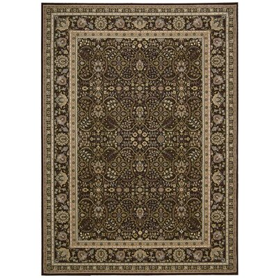 Antiquities American Jewel Espresso Area Rug Rug Size: Rectangle 53 x 74