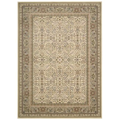 Antiquities American Jewel Ivory Area Rug Rug Size: Rectangle 53 x 74