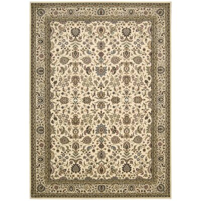 Antiquities Royal Countryside Ivory Area Rug Rug Size: 3'9
