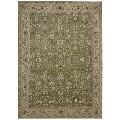 Antiquities Royal Countryside Sage Area Rug Rug Size: Rectangle 53 x 74