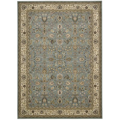 Antiquities Royal Countryside Slate/Blue Area Rug Rug Size: 5'3