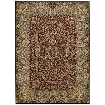 Antiquities Stately Empire Burgundy Area Rug Rug Size: 53 x 74