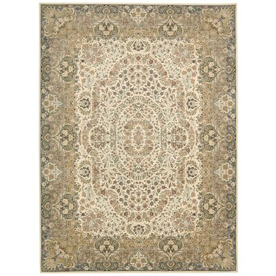 Antiquities Stately Empire Ivory Area Rug Rug Size: Rectangle 53 x 74