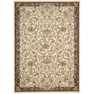 Antiquities Timeless Elegance Ivory Area Rug Rug Size: 39 x 59