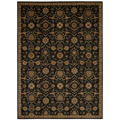 Babylon Ancient Times Persian Treasure Black Area Rug Rug Size: Rectangle 53 x 75