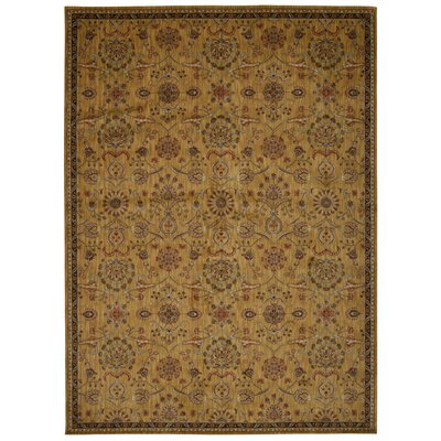 Babylon Ancient Times Persian Treasures Gold Area Rug Rug Size: 53 x 75