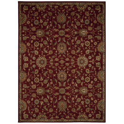 Babylon Ancient Times Ancient Treasures Red Area Rug Rug Size: 53 x 75