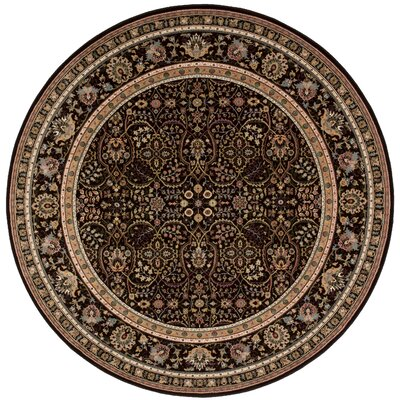 Antiquities American Jewel Espresso Area Rug Rug Size: Round 710 x 710