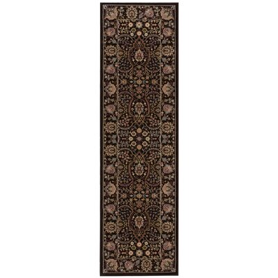 Antiquities American Jewel Espresso Area Rug Rug Size: Runner 22 x 76