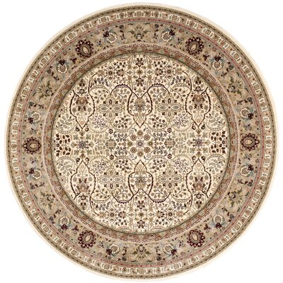Antiquities American Jewel Ivory Area Rug Rug Size: 53 x 53
