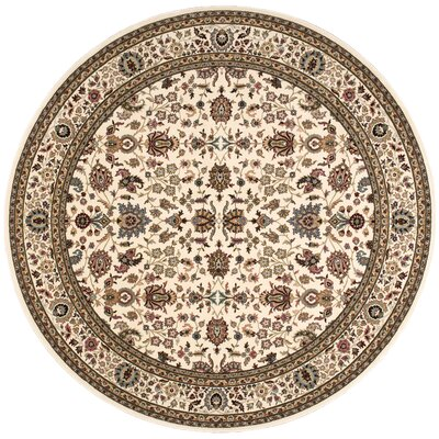 Antiquities Royal Countryside Ivory Area Rug Rug Size: Round 710 x 710