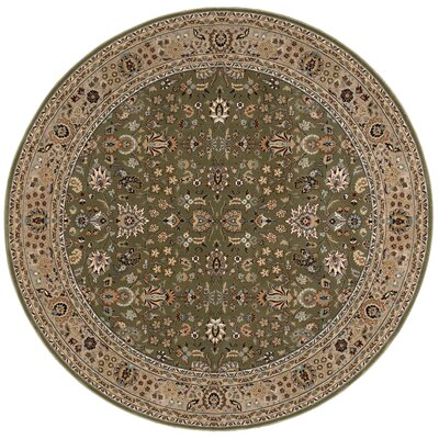 Antiquities Royal Countryside Sage Area Rug Rug Size: Round 53 x 53