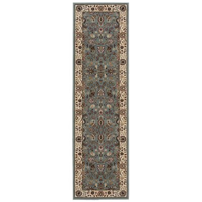 Antiquities Royal Countryside Slate/Blue Area Rug Rug Size: Runner 2'2