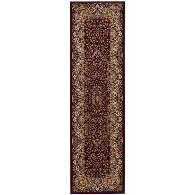 Antiquities Stately Empire Burgundy Area Rug Rug Size: Runner 22 x 76