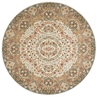 Antiquities Stately Empire Ivory Area Rug Rug Size: Round 710 x 710