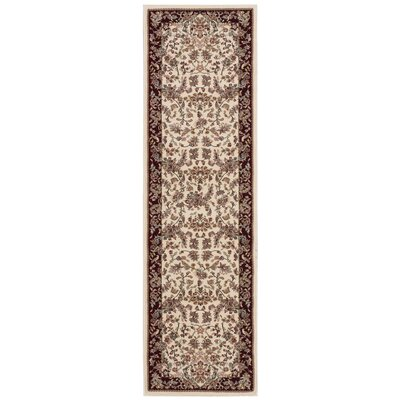Antiquities Timeless Elegance Ivory Area Rug Rug Size: Runner 22 x 76