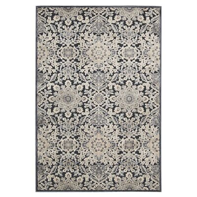 Bel Air  Marseille Charcoal Area Rug Rug Size: 79 x 99