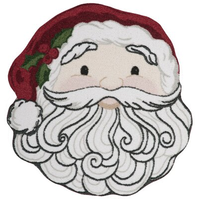 Christmas Santa Face Red/White Area Rug