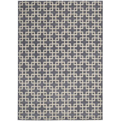 Hollywood Shimmer Times Square Gray/Tan Area Rug Rug Size: Rectangle 53 x 75