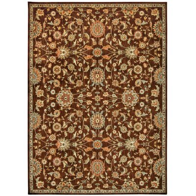 Babylon Ancient Times Ancient Treasures Brown Area Rug Rug Size: 93 x 129