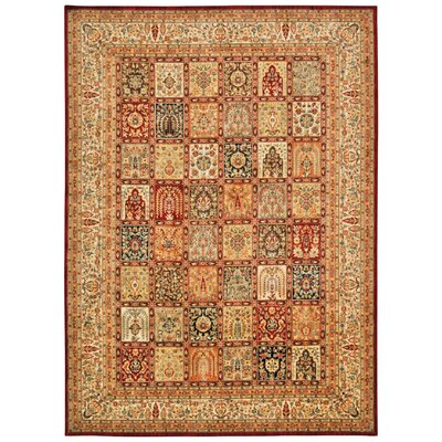 Ancient Times Asian Dynasty Multicolor Area Rug Rug Size: Rectangle 53 x 75