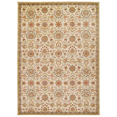 Babylon Ancient Times Persian Treasures Beige Area Rug Rug Size: Rectangle 93 x 129