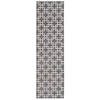 Hollywood Shimmer Times Square Gray/Tan Area Rug Rug Size: Runner 23 x 8