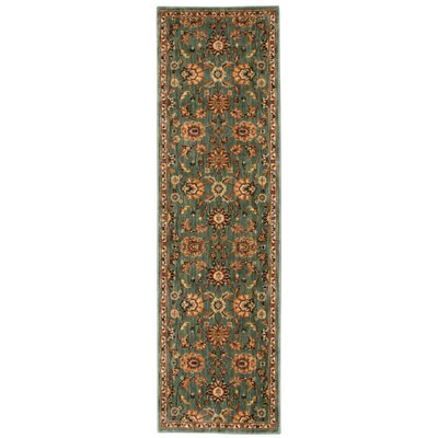 Babylon Ancient Times Ancient Treasures Teal Area Rug Rug Size: Runner 22 x 76