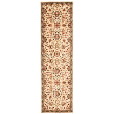 Babylon Ancient Times Persian Treasures Beige Area Rug Rug Size: Runner 22 x 76