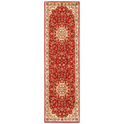 Babylon Ancient Times Palace Red/Beige Area Rug Rug Size: Runner 22 x 76