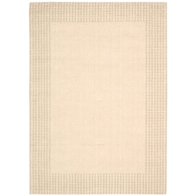 Cottage Grove Coastal Village Hand-Loomed Bisque Area Rug Rug Size: 5'3