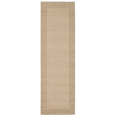 Cottage Grove Coastal Village Hand-Loomed Bisque Area Rug Rug Size: 53 x 75