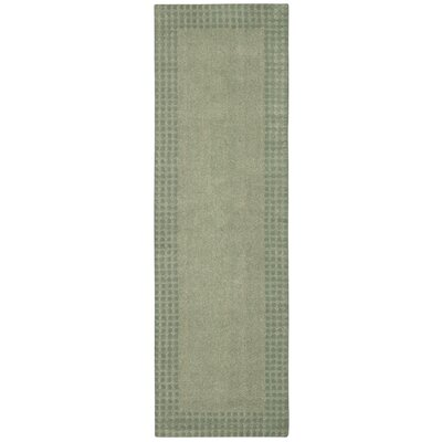 Cottage Grove Coastal Village Hand-Loomed Mist Area Rug Rug Size: Runner 23 x 76