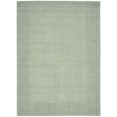 Cottage Grove Coastal Village Hand-Loomed Mist Area Rug Rug Size: 53 x 75