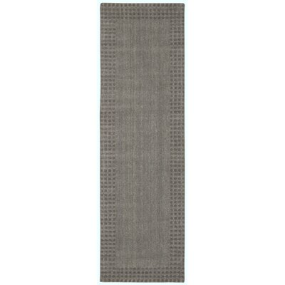 Cottage Grove Coastal Village Hand-Loomed Steel Area Rug Rug Size: Runner 23 x 76