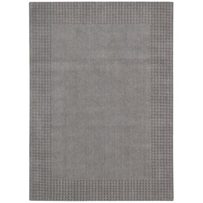 Cottage Grove Coastal Village Hand-Loomed Steel Area Rug Rug Size: 53 x 75