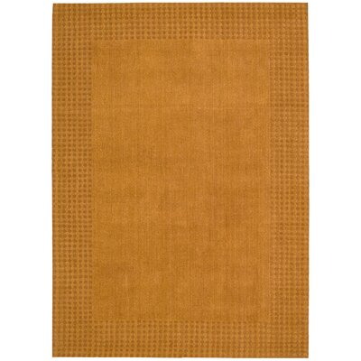 Cottage Grove Coastal Village Hand-Loomed Terracotta Area Rug Rug Size: Rectangle 53 x 75