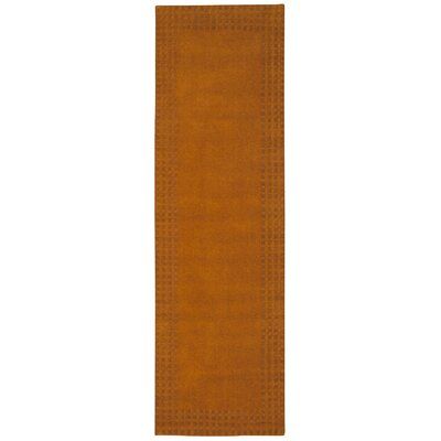 Cottage Grove Coastal Village Hand-Loomed Terracotta Area Rug Rug Size: Runner 23 x 76