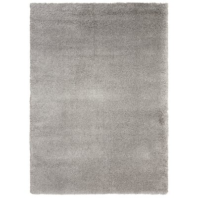 Kathy Ireland Yummy Shag Silver Area Rug Rug Size: Rectangle 710 x 910