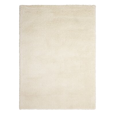 Kathy Ireland Yummy Shag White Area Rug Rug Size: Rectangle 53 x 73