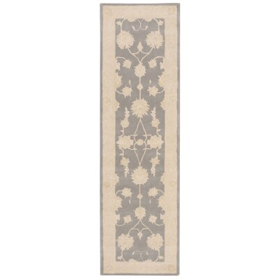 Royal Serenity Kathy Ireland Hide Park Hand-Tufted Ivory/Blue Area Rug Rug Size: Runner 23 x 8