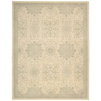 Royal Serenity Kathy Ireland St. James Hand-Tufted Bone Area Rug Rug Size: 76 x 96