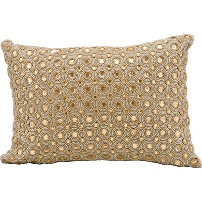 Sarahi Beads Lumbar Pillow Color: Beige