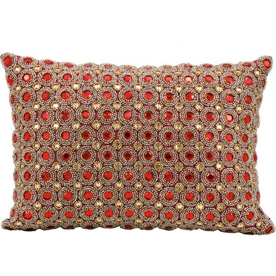 Sarahi Beads Lumbar Pillow Color: Ruby