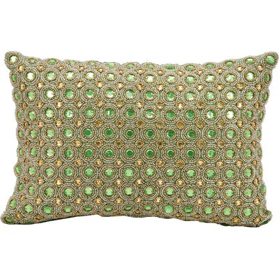 Sarahi Beads Lumbar Pillow Color: Green
