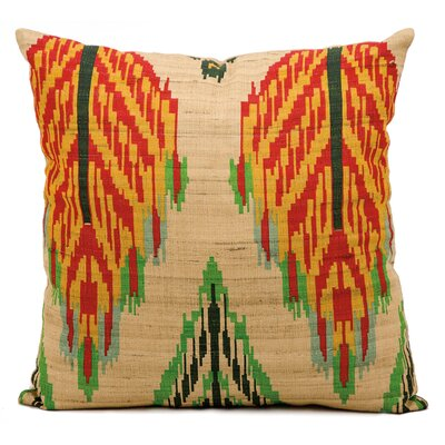 Escapade Brown/Red/Yellow Throw Pillow